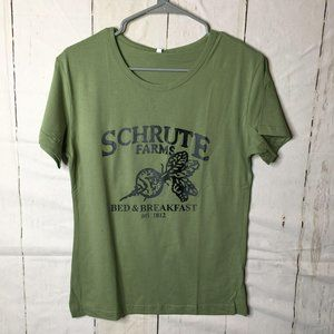 Zaful Womens The Office Tee Schrute Farms S NWT